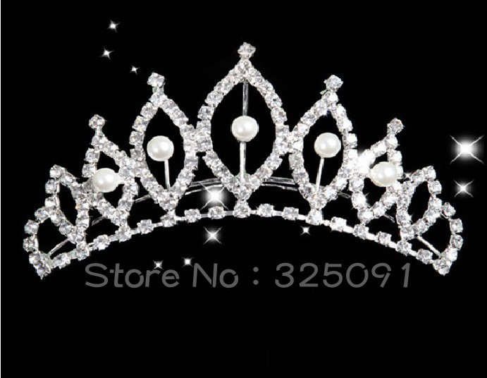 New Arrival Rhinestone Crystal Diamond Tiaras Crowns for Wedding Bride Pageant Party Hair Jewelry Factory Wholesale Customized(China (Mainland))