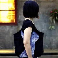 Yeduo fit curve canvas bag shoulder bag cheongsam style free air mail