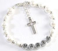 Free Shipping Girls Personalised Bracelet First Communion Christening Bridesmaid Gift
