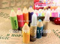 Free Shipping-24pcs/lot lovely colour penpacking Moisturizing anti-cracking Pure natural plant lip balm,Lip Care Balm,