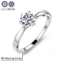 Kastm Luxury 100% genuine 925 sterling silver women  diamond wedding engagement ring fine jewelry