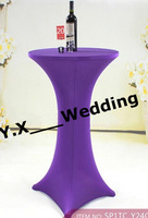 spandex cocktail table cover /red cocktail tablecloths/ lycra table cloth