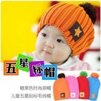 Baby toddler Winter Star knit cap hat MZ0014