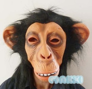 Free Shipping New Fashion Hotsale Mask Smiling Face Oralogy Masks Chimpanzee Latex Party Mask(China (Mainland))