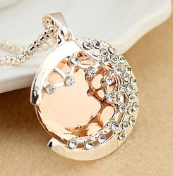 Min.order is $15 (mix order) New style vintage female bright moonlight necklace jewelry X4727(China (Mainland))