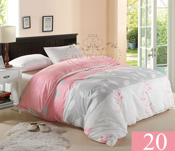 Free shipping,100% cotton new design 15% Off Twin Full Queen King size #20 pink silver printed duvet cover bedclothes bedding