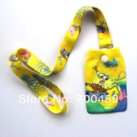 New Lot 10 pcs SpongeBob SquarePants  Phone bag + Neck lanyard  MP3/4