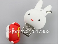 Cute cartoon series high speed usb2.0 flash rascal rabbit edition shock hockey