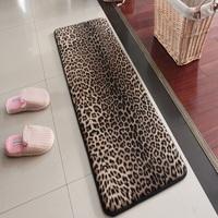 Memory foam memory foam mats waste-absorbing slip-resistant bath mats doormat leopard print carpet 45 120cm