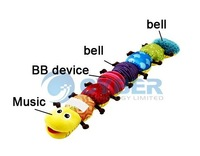 2013 NEW! $9.99 Free-shipping baby's plush stuffed musical caterpillar kids educational toys nice gift for children Cheaper!