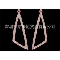 Серьги-гвоздики 18 k rose gold environmental multicolor crystal alloy italina brand earrings