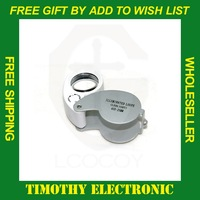 Free shipping Mini 40 x 25mm Jewelers Loupe Magnifier Magnifying Eye Glass 1PC #EC007