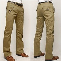 Free shipping!Men casual pants Korean Straight 100% cotton Trousers / size 28-35 / 4 colors