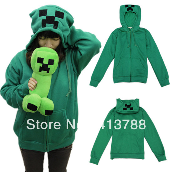 Minecraft creeper in a hoodie skin minecraft green blocks cake