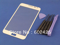 Free shipping New Touch Screen Outer Glass Lens for Samsung Galaxy Note i9220 N7000 White