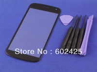 LCD front Glass Screen Lens For Samsung GALAXY Nexus i9250 black