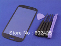 BLUE Outer touch Screen Glass Lens for Samsung Galaxy S3 i9300 digitizer + free tools