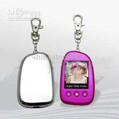 20PCS* Hot Cheap 1.5 Inch Digital Photo Frame with Keychain multi colors(China (Mainland))
