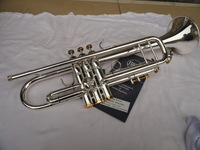 Wholesale copy Bach180 S-43 of the little instrument surface silver inventory With of brass instruments Bb trumpet Free shipping