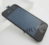 2PCS LCD Touch Screen Glass Display Assembly for iPhone 4 4G Black BA019