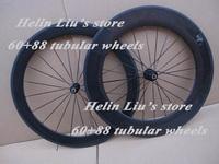 carbon fiber high quality road bicycle (60+88)mm tubular wheels
