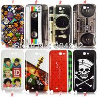 One Direction Tape Cassette Retro Camera Skull Head Hard Plastic Case for Samsung Galaxy Note 2 II N7100