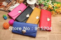 Concise Style Women's Button PU leather wallet lady's clutch bag card holder coin purse handbag B42