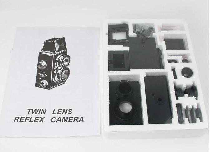 Factory price dropshipping DIY Adoult LOMO Camera Science Vo1.25 Twin Lens Reflex TLR Camera Holga Recesky(China (Mainland))