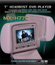 2x7'' Headrest DVD player with SD card reader/IR function/FM transmit/ wireless controller/ USB reader/ 32 bit games(China (Mainland))