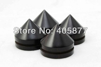 6pieces Top quality Ebony Black Speaker Spike 23X20mm for Speaker amplifier CD player