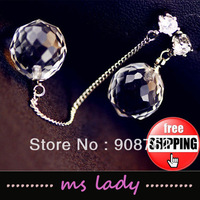 Free Shipping! Wholesale Quality Women's Chain Style Drop Earrings 12 pair/lot HK Airmail