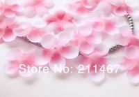 Free shipping 2000pcs cherry flowers shaped/heart shaped flowers petals wedding decorative flowers leaves