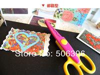 Free Shipping Creative Cute Photo Album/Scrapbook/Artwrok Safe DIY Craft Scissors 6 designs Wholesale