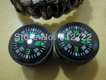 500 pcs/lot  pocket compass for military survival bracelet diameter 25mm