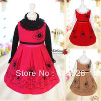 FREE SHIPPING children clothing  children's dress girls clothing  dress double faced  dress