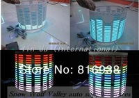 free shipping 80*19CM Car Music rhythm lamp led sound activated equalizer Multi color flashing one set