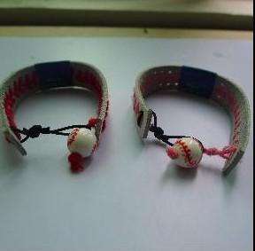 free shipping Bracelet softball baseball leather ball sports accessories / wholesale