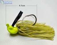 Freeshipping 5pc/lot 4.1cm,12g rubber jig head fishing lure bait with Hooks color random