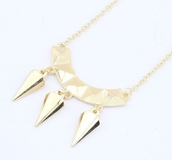 MIn order 10usd Europe&America High quality !Fahion Europe exaggerated Half bending spike necklace wholesale SPX1888 E-JOY LIFE(China (Mainland))