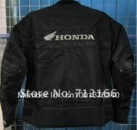 Free shipping New Honda Racing protection Oxford Nylon Jacket with cotton lining.motorcycle,motorbike,Moto clothing [Black]