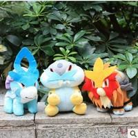"Free Shipping 3pcs/lot Pokemon Plush Doll Toy Stuffed Entei  Suicune Raikou Cute 7""High Quality"