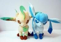 "New Pokemon Plush LEAFEON GLACEON 9.5"" Soft Toys Figure doll 2pcs/Set"