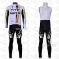 HTC  Winter  Bicycle Jersey Cycling Long Clothing and BIB Short