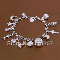 H144 Free Shipping 925 Silver Bracelet Fashion Jewelry Bracelet  Hanging 13 bracelet atla jksa
