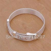 H237 Free Shipping 925 Silver Bracelet Fashion Jewelry Bracelet  Small mesh strap bracelet awra jnya
