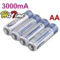 4 X BTY Ni-MH AA 3000mAh 1.2V Rechargeable 2A Battery [26673 |01|01]