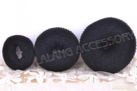 3pcs/lot Bud Head Maker New Promotion Middle Size Black Twist Tool Donut Shape Hair Device Hair Decoration 7cm 300010