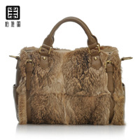 fur women's handbag fashion bag handbag cross-body rabbit fur bags