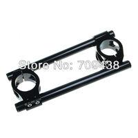 35MM Universal CNC Clip On Ons Handlebars Handle Bar For 35mm Fork Tube YAMAHA RZ350 84-86 HONDA KAWASAKI SUZUKI etc BLACK