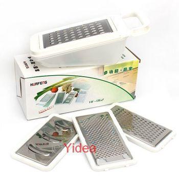 Hot Sale1 Set Stainless Steel Vegatable Slicer Cutter Grater Shredder Kitchen Supplies 80011